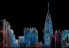 Abstract Manhattan Stock Photo