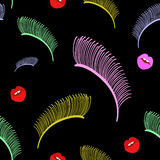 Abstract manierpop-art, schoonheid, Make-up Stock Afbeelding