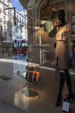 Abstract mannequin at the shop window with the reflected, Granad Stock Images
