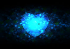 Abstract many hearts on black background vector illustration for valentines Stock Photo