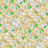 Abstract map of city - seamless vector background Stock Image
