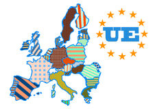 Abstract map of European Union Stock Photos