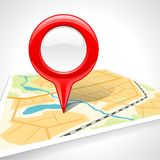 Abstract map with glossy markers Royalty Free Stock Images