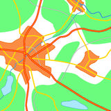Abstract map illustration Royalty Free Stock Photography