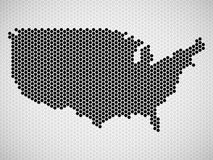 Abstract map of USA from hexagons. Vector illustration. Eps 10 Stock Photo