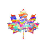 Abstract Maple Leaf Silhouette with Pattern. Vector Royalty Free Stock Photo
