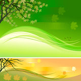 Abstract Maple Tree Vector Background Stock Photo