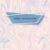 Abstract marble backgrounds in pastel pink and blue liquid paint colors. Stock Photos