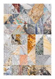 Abstract marble collage Royalty Free Stock Photo