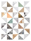Abstract marble collage Royalty Free Stock Photos