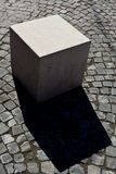 Abstract marble cube Royalty Free Stock Photography
