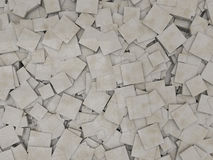 Abstract marble geometric background from cubes. 3D Stock Photos