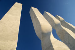 Abstract marble monument Royalty Free Stock Photography