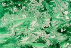 Abstract marble pastel green white color paint background Stock Image