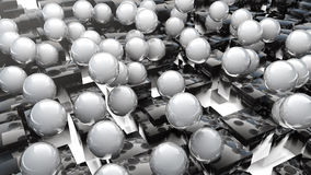Abstract Marble Spheres And Cubes Stock Photos