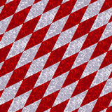 Abstract marbled diamond pattern with white and red veins. Red, gray and white marble pattern of beveled squares Royalty Free Stock Image