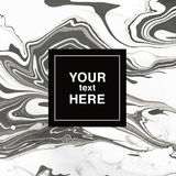 Abstract marbling background in black and white colors for invit. Abstract marbling texture vector background Royalty Free Illustration
