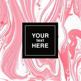 Abstract marbling background in white and pink colors for invitations Stock Image