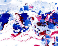 Abstract marbling colorful background. Abstract marbling ebru colorful background with waves and splashes Stock Photos