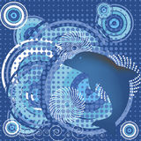 Abstract marine representation  with dolphin Royalty Free Stock Image