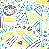 Abstract marker colorful lines seamless pattern Stock Image