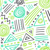 Abstract marker colorful lines seamless pattern Stock Images
