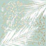 Abstract Marmeren Gouden Patroon stock illustratie
