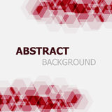 Abstract maroon hexagon overlapping background Royalty Free Stock Image