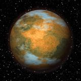 Abstract Mars planet generated texture background. Abstract Mars planet generated texture or background Royalty Free Stock Photo