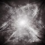 Abstract X-mas background. Vector illustration. Merry Christmas! Abstract sparkling background with snowflakes. Eps 10 vector design Stock Photos