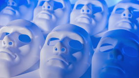 Abstract masks concept stock footage