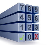 Abstract massive numbers pad Royalty Free Stock Images