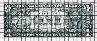 Abstract mat from a dollar banknote Stock Photo