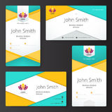 Abstract material business card style. vector illustration. Royalty Free Stock Photos