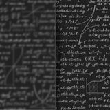 Abstract math background behind matt glass banner Stock Photos