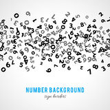 Abstract math number background. Vector illustration Royalty Free Stock Photography