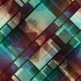 Abstract matrix pattern on geometric background. Stock Images