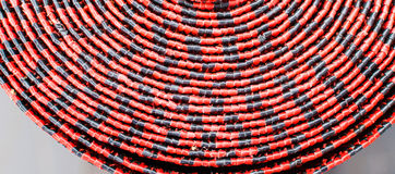 Abstract mats red and black texture pattern background Stock Photography