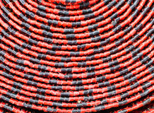 Abstract mats red and black texture pattern background Stock Photo