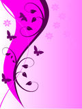 Abstract Mauve Floral Backround Stock Image