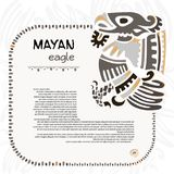 Abstract maya and aztec symbol of an eagle. Fo your designe royalty free illustration