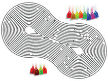 Abstract maze stock photography