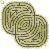 Abstract maze Stock Image