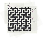 Abstract maze Royalty Free Stock Image