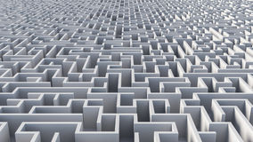 Abstract Maze Architecture Stock Afbeelding