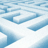 Abstract Maze Drawing Stock Image