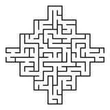 Abstract maze / labyrinth with entry and exit. Vector labyrinth 231. Puzzle game Stock Photography