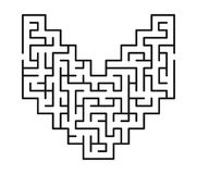Abstract maze / labyrinth with entry and exit. Royalty Free Stock Photography