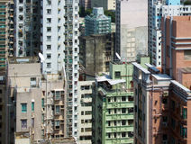 Abstract Maze of towers in Hong Kong Royalty Free Stock Photo