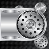Abstract Mechanical Background Stock Image